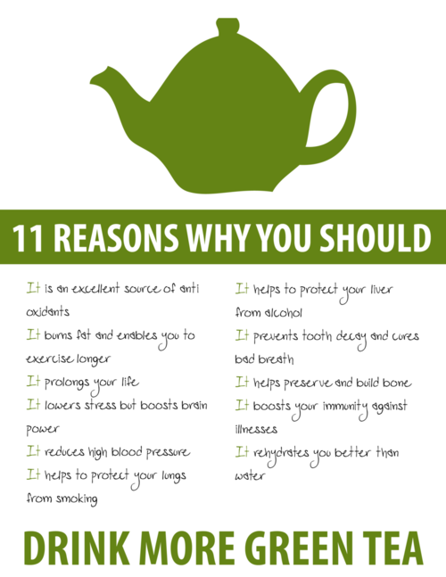 reasons to drink green tea
