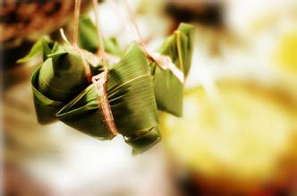 zongzi rice dumplings in bamboo leaves
