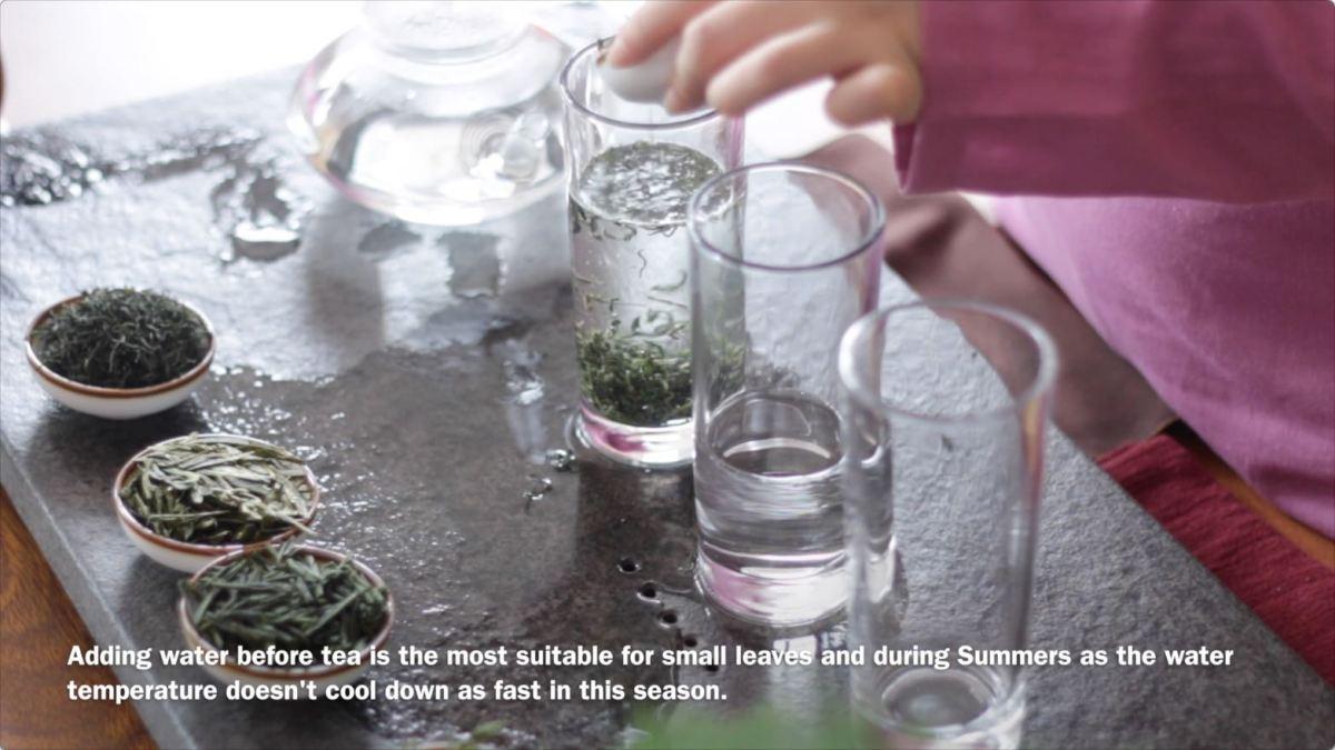 green tea brewing 2